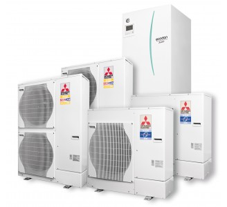Õhk-vesi soojuspump Mitshubishi Electric ECODAN Seeria